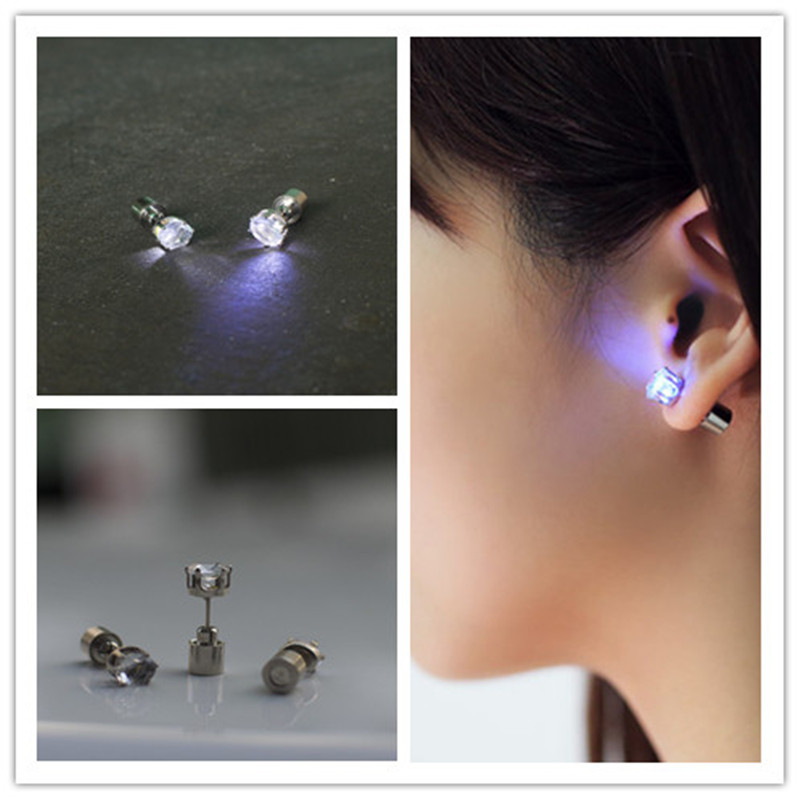 50pairs Lot New Hot Uni Led Light Up Blinking Earrings Ear Studs Xmas Hallowmas Gift Party In Toys From Hobbies On Aliexpress