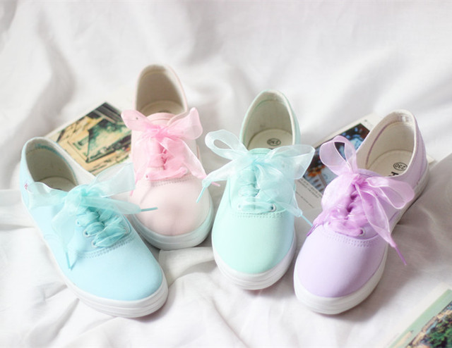 Free shipping women shoes  HARAJUKU tie-dyeing mint green shallow mouth canvas  flatbottomed hand-painted women fashion  shoes