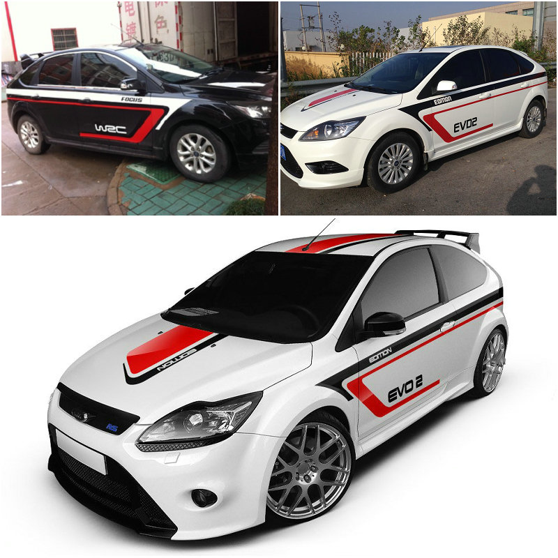2015 new design full car body stickers for ford focus golf mg5 modified waterproof vehicle body. Black Bedroom Furniture Sets. Home Design Ideas