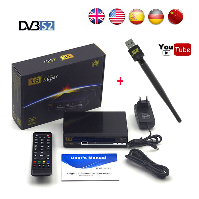 5pcs freesat V8 Super HD Satellite Receiver FTA DVB-S2 tv receptor 1080P support Biss Key newcam 3G IPTV Youporn with USB WIFI toddler kids baby girls boho long foral princess party dress prom beach maxi sundress print lovely casual long sleeve dresses