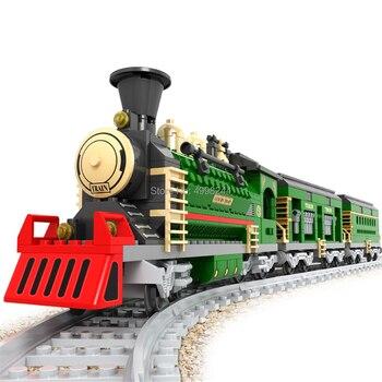 Ausini 25904 666pcs vecchio classico treno building block Mattoni Giocattolo 1