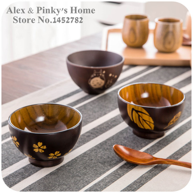 Us 949 5 Offjapanese Tableware Handmade Wooden Bowls Salad Bowl Rice Soup Bowl Kitchen Bowl In Bowls From Home Garden On Aliexpresscom
