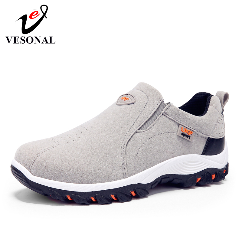 VESONAL 2019 Spring Summer Slip On Out door Loafers Sneakers For Men Shoes Breathable Suede Male VESONAL Spring Summer Slip-On Out door Loafers Sneakers For Men Shoes Breathable Suede Male Footwear Walking comfortable