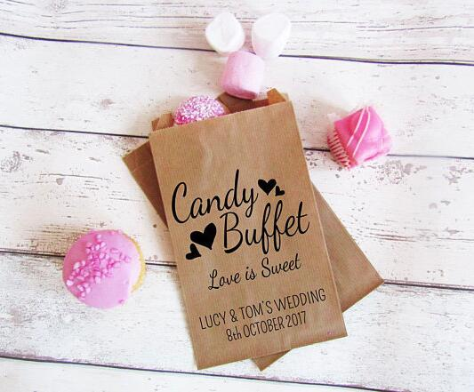 Personalized Loe Is Sweet Wedding Popcorn Candy Buffet Treat Bags Birthday Bridal Baby Shower Bakery Cookie Favorkets In Gift Wring Supplies