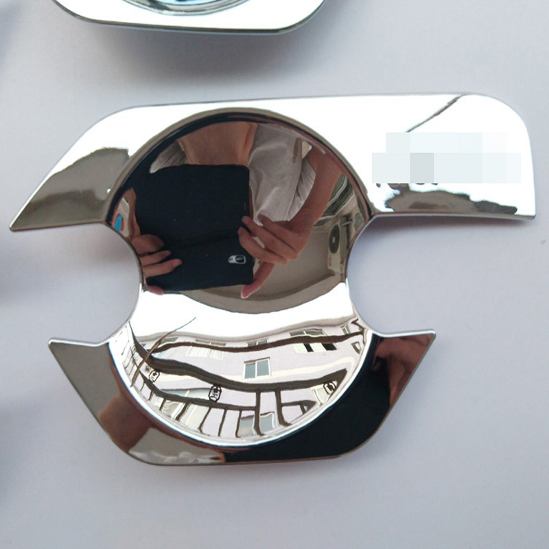 Free shipping ABS chrome door handle bowl insert trim cover For Nissan Frontier Navara D40 car styling parts in Chromium Styling from Automobiles Motorcycles