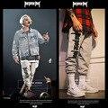 Calças Das Mulheres Dos Homens de Justin Bieber Finalidade do Projeto do 1:1 Turnê Off White Pant 100% Algodão Harém Basculador Hip Hop Casuais calças de Compressão calças