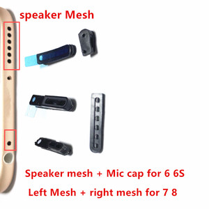 Image 1 - AliSunny 50Set LoudSpeaker + Mic  Mesh Adhesive Sticker for iPhone 6 6S 7 Plus Left + Right Mesh anti Dust Ear Screen Tap Glue