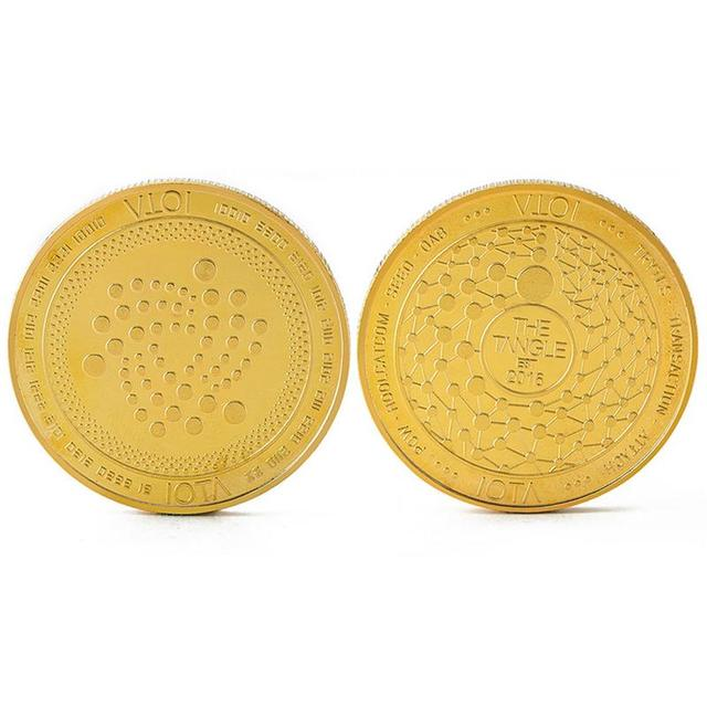 2018 New Arrival IOTA virtual digital currency Bitcoin embossed three-dimensional commemorative coin Dropshipping