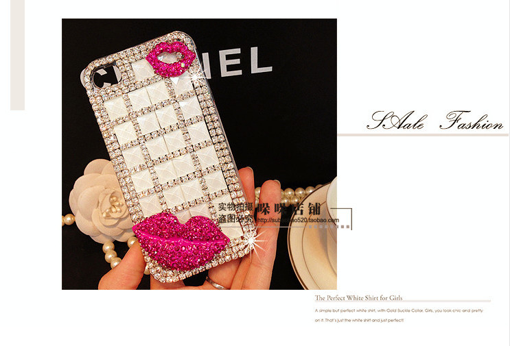 For Huawei P7 case rhinestone mobile phone cases Transparent case protective cover colorful glossy case 13