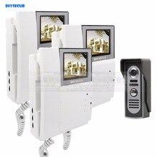 DIYSECUR 800 x 480 Video Door Phone Video Intercom Doorbell 4.3inch Indoor Monitor + 600 TVLine IR Night Vision Outdoor Camera