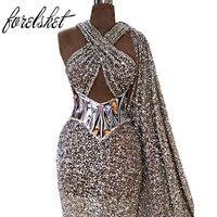 Блестящие Длинные вечерние платья с пайетками 2019 прямые платья для выпускного вечера vestido de festa Dubai beauty Формальное вечернее платье robe de soiree