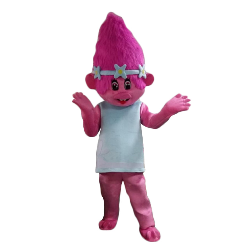 NEW Poppy From Dream works TROLLS Movie Halloween cosply Costume Mascot Fancy Dress adult size Free shipping ...