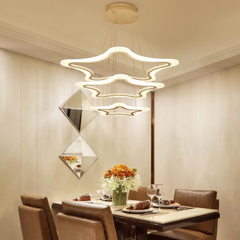 Modern Led Pendant Lamps Living Room Acrylic Fixture