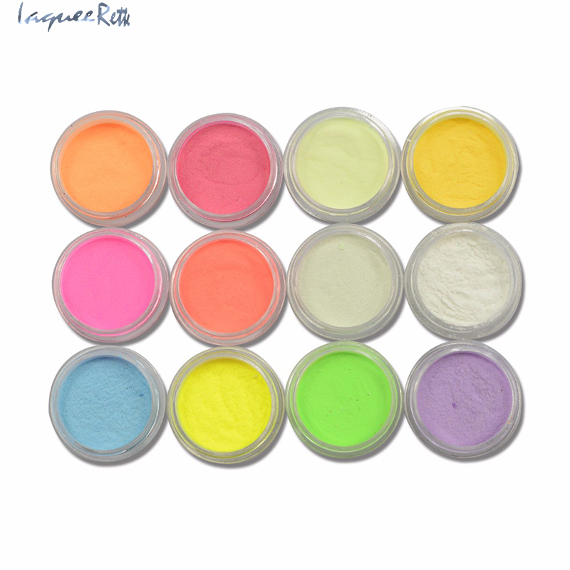 12colors Luminous Pigment Fluorescent Powder Dust Neon