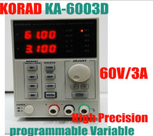 Discount! KORAD KA6003D High Precision The Lab programmable Adjustable Digital Regulated power supply DC Power Supply 60V/3A mA 4Ps