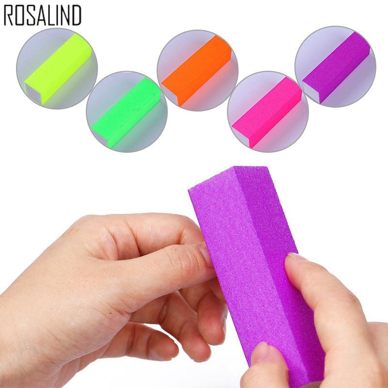 Rosalind 5pcsSet Form Nail Buffers File For UV Gel Nail File Buffer Block Polish Manicure Pedicure Sanding Nail Art Tool