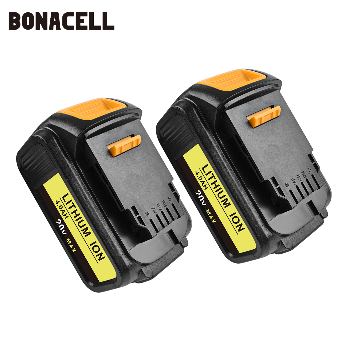 Bonacell 18V/20V Battery For Dewalt 4000mAh Replacement Battery For DCB200 DCB181 DCB182 DCB204-2  DCB201 DCB201-2 L50