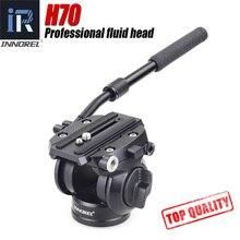 H70 الهيدروليكية بانورامية كاميرا ترايبود رئيس الفيديو السائل السحب عموم رئيس لكانون نيكون سوني DSLR كاميرا تصوير الكاميرا