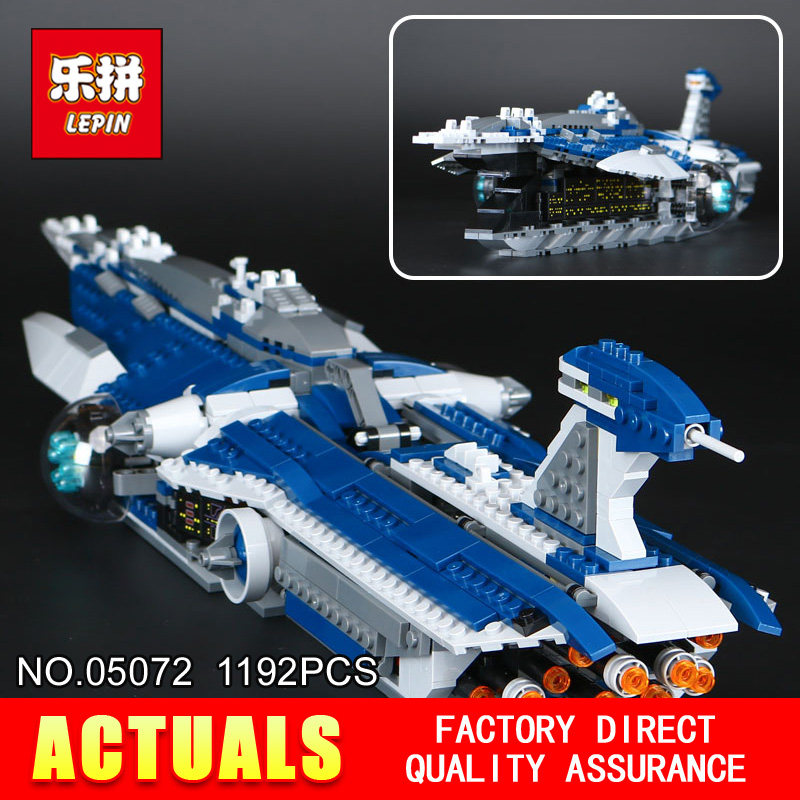 2017 New LEPIN 05072 Star Children toys Wars Dental warships 1192Pcs Building blocks Bricks toys Model 9515 for Holiday boy Gift lepin 22001 pirate ship imperial warships model building block briks toys gift 1717pcs compatible legoed 10210