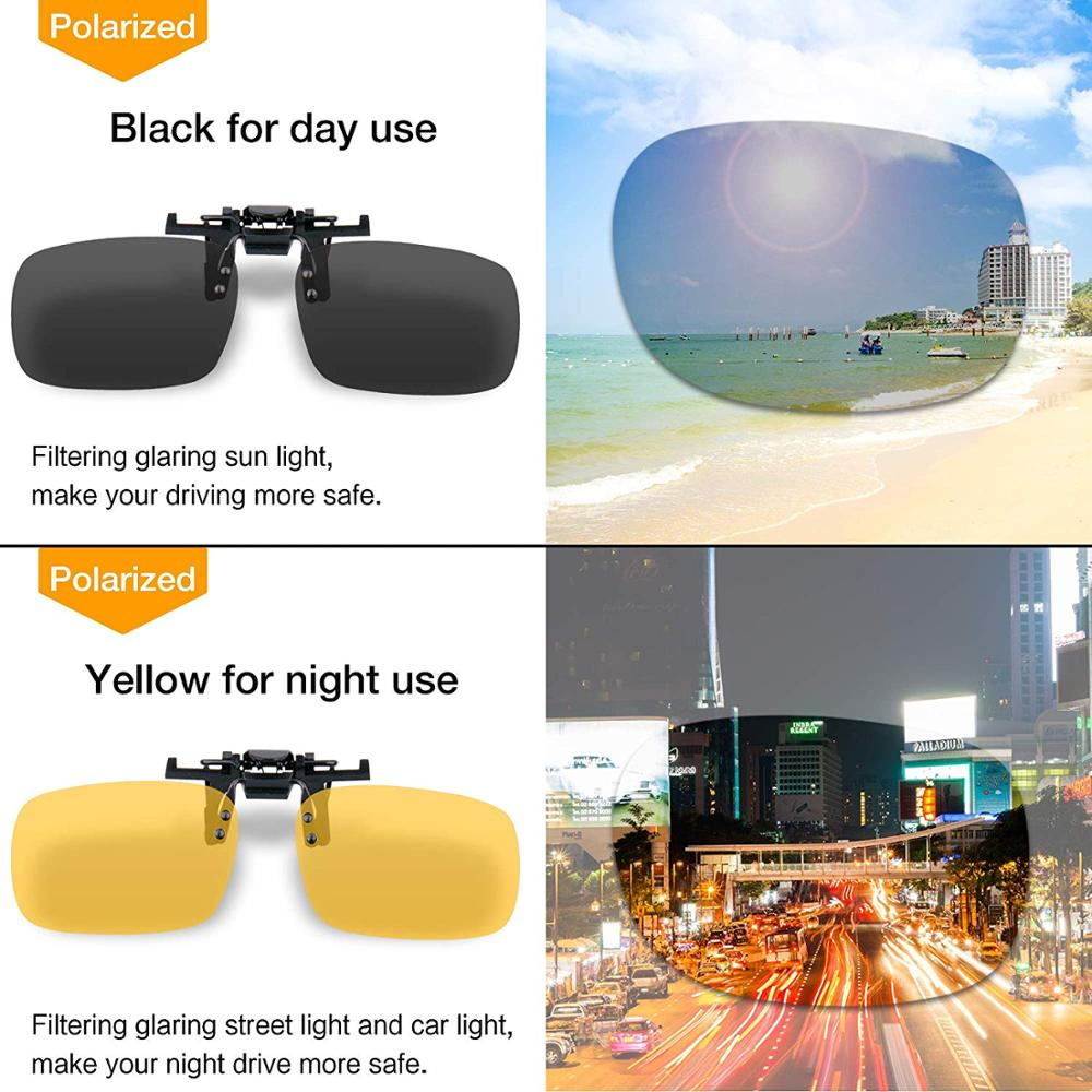 Drop shipping Flip Up Wholesales Clip on Sunglasses Unisex Polarized Frameless Lens in Lenses from Tools