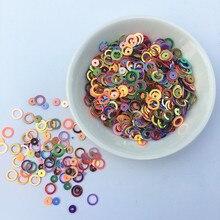 10 gr/paket Erstaunliche Glitter Pailletten 4mm/6mm Ring Kreis Runde Form Lose pailletten für nail art Frauen nähen Kinder Diy Zubehör