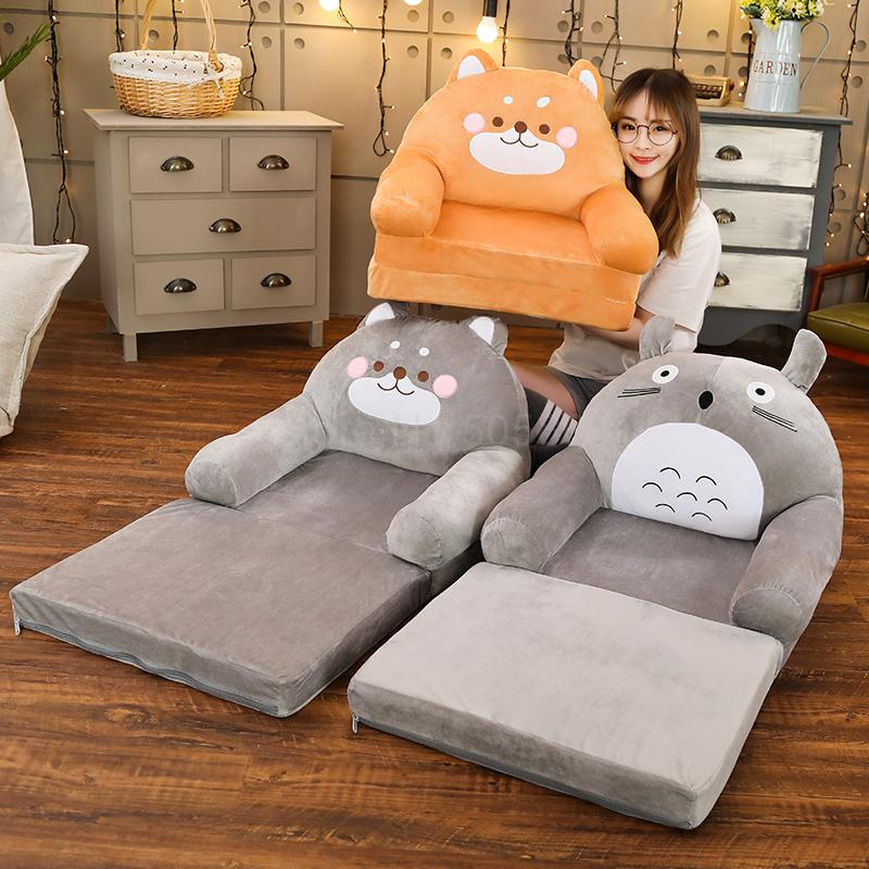 Children Folding Small Sofa Girl Boy Princess Baby Sofa Chair Lazy Tatami Single Cushion Can Be Removed And Washed|Children Sofas|Furniture - title=