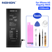 NOHON Lithium Phone Battery For High Quality 2200mAh iPhone 6 6G iPhone6 Replacement Internal Phone Bateria Free Tools