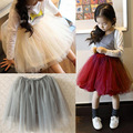 2016 Spring Summer Lace Mesh Long Baby Tutu Skirt Princess Girls Skirts 2~7Age Children Clothing Tutu Pettiskirt 5 Color