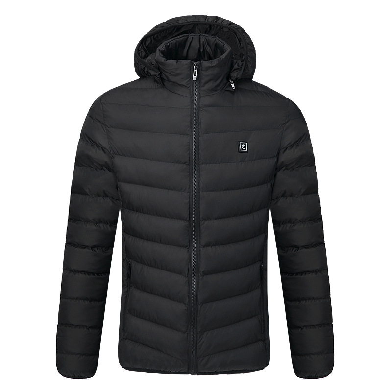 Joo box intelligent winter heating slim men's cotton-padded jacket/cap electric /one - key heating han edition printing cotton padded jacket is beautiful and comfortable small cotton padded jacket of cultivate one s morality