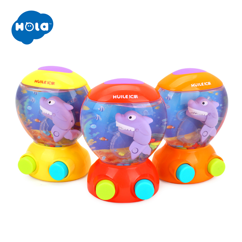 HOLA 3110 Baby Bath Toys Water Toys Shark Fish Hunt Toy Kids Bathroom Game Play Set Early Educational Toys for Children Игрушка