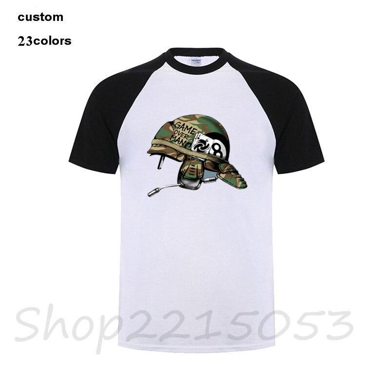 Game Over Mans T-Shirt motocycle biker anime cartoon skull clothing tshirt fortnite riverdale camisetas harajuku male t shirt