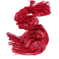 Genovega New Women Viscose Scarves Evening Metallic Glitter Scarf Female Lurex Scarf Shinning Tassel Long Solid Scarf For Lady