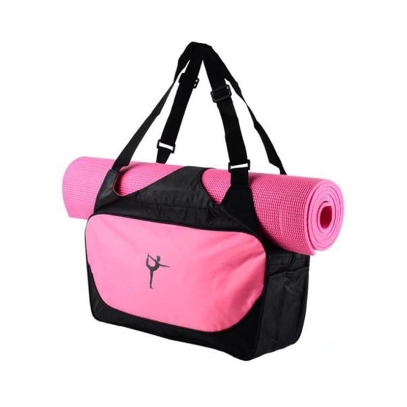 Multi-functional Yoga Mat Carry Bag Waterproof Oxford Shoulder Bag Backpack