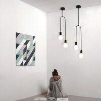 Loft suspension birne Lampe Einfache Kreative Design Cafe Bar Eisen Kronleuchter Schlafzimmer Wohnzimmer E27 industrie hängenden lampe leuchte