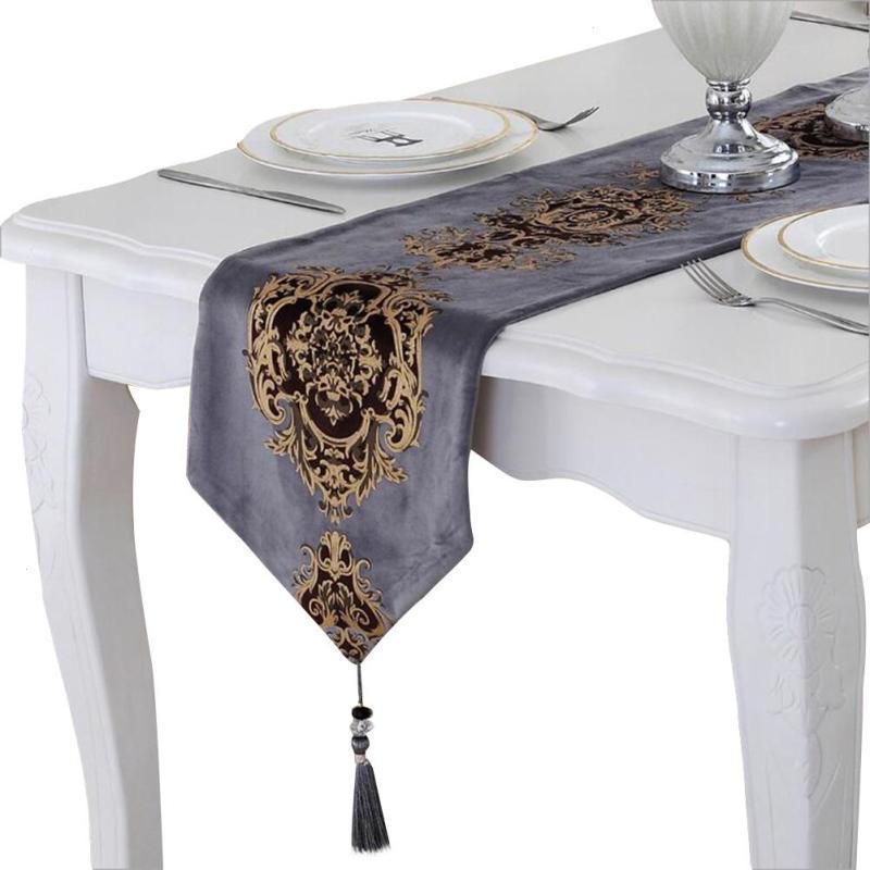 Роскошный Европейский Стиль вышивка дорожка на стол Гостиная ТВ кабинет Чай Кофе покрытие стола кровать бегун скатерти Home Decor 3