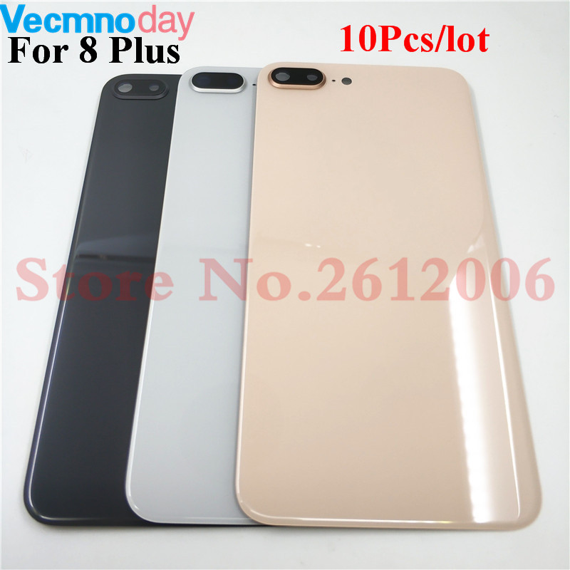 10Pcs lot New Good quality For Apple iPhone 8 Plus iPhone8 Plus Back Battery Cover Glass