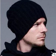 3b218ffd409 Hot Sale Winter Casual Hip Hop Beanies Men Knitted Bonnet Hats for Men s  Crochet Warm Cap