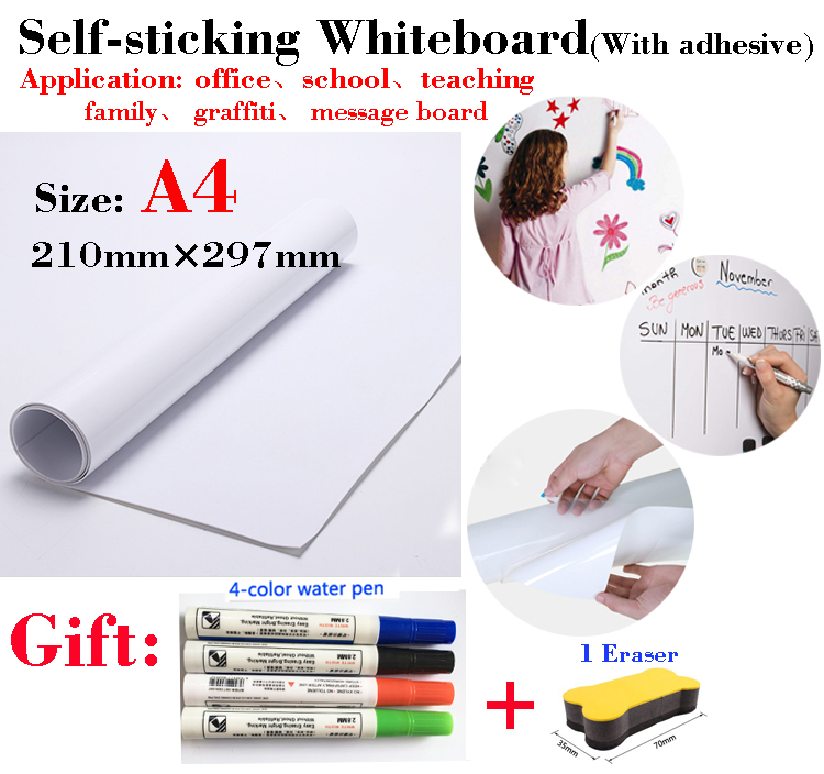 Soft Dry-erase Whiteboard Message Board For Fridge Office Teaching Children's Drawing Graffiti Self-adhesive Writing Board