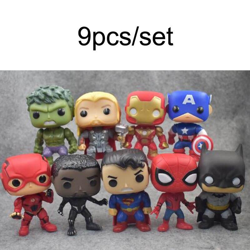 10pcs//set DC Justice League /& Marvel Avengers Super Hero Aquaman 10cm Model