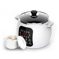 DMWD 220V Electric Slow Cooker 2.5L 13 Menu Ceramic Soup Pot Breakfast Machine DIY Yogurt Pickle Maker 12H Appointment