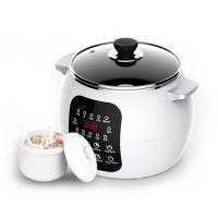 DMWD 220V Electric Slow Cooker 2.5L 13 Menu Ceramic Soup Pot Breakfast Machine DIY Yogurt Pickle Maker 12H Appointment