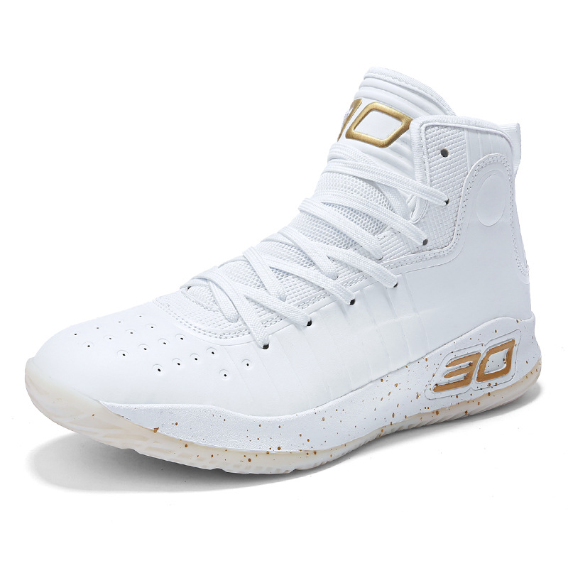 Stephen Curry Number 30 High Top Cushioning Basketball Shoes Shockproof Athletic Outdoor Sports Shoes under armour men curry 5 basketball shoes stephen curry sport basketball sneakers male training unique socks design sport shoes