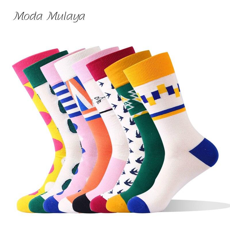 2019 Men's Happy   Socks   Thermal 100% Cotton Colorful Funny   Socks   Male Fashion Harajuku Street Wear Casual   Socks   for Mens Gift