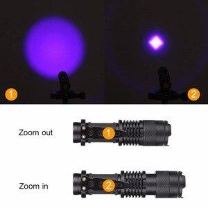 Image 4 - UV El Feneri 365nm/395nm Ultraviyole Işık Zumlanabilir UV ışıklı fener Lamba Işaretleyici Kontrol Algılama Kullanarak AA/14500 pil