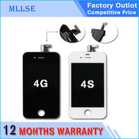 1 Pcs Grade AAA Quality Phone Display For IPhone 4 4G 4S LCD Screen And Touch
