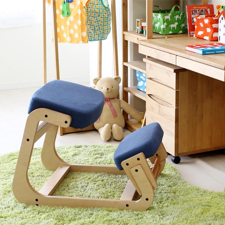 ergonomically designed kneeling chair wood modern office furniture