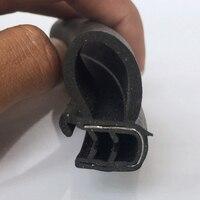 Car Door Sealing Tape Trim Moulding Rubber Sealing Gasket Tape Rear Edge 3meter