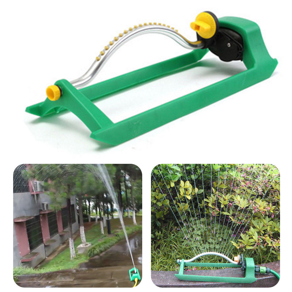 Home Garden Sprinklers Oscillating Lawn Sprinkler Watering Garden Pipe Hose Water Flow With Connector Plants Watering Tools