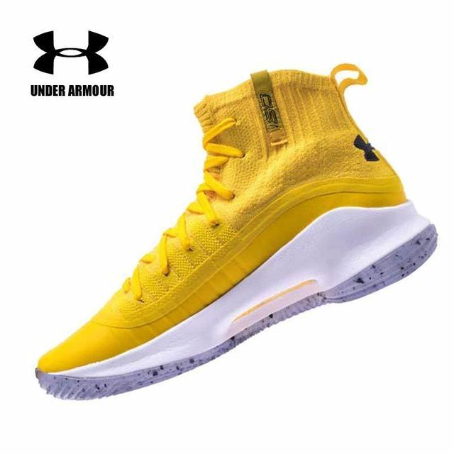 Under Armour Sepatu Pria UA Curry 4 Cs Sepatu Basket Lebih Menyenangkan Dublin Rentang Emas Putih Cal Beruang Sneakers Pria chaussures Sepatu Olahraga