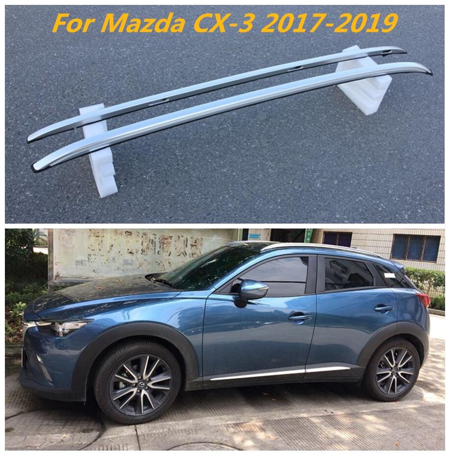 2PCS OE ALUMINUM ROOF RAIL CROSS BAR LUGGAGE CARRIER FOR 07-12 MAZDA CX-7 CX7